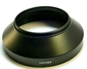 46mm Lens Hood Shade metal screw in threaded wide angle