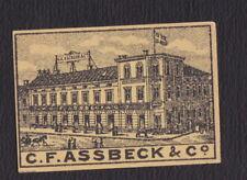 Ancienne étiquette allumettes Suède BN123004 C.F. Assbeck