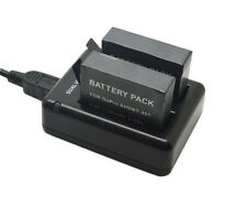 2x Ahdbt-401 1600mah Li-ion Battery Dual USB Charger for GoPro Hero 4 HD Hero4