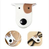 2PCS Cute Doggie Headphone Cord Wire Wrap Holder Earphone Cable Winder Organiser