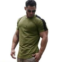 Summer muscle tee t shirts o neck tops blouse t shirt slim fit casual men's