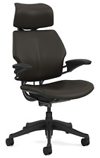 Humanscale Freedom F213 Terra Bizon Leather Office Desk Chair With Advanced Arms
