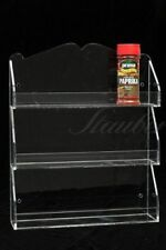 Wall Mounted Spice Organizer, Spice Rack, 3 Shelves, Clear Acrylic