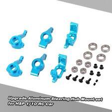 Upgrade Aluminum Steering Hub Mount set 102011 102068 for HSP 1/10 RC Car Z9W0