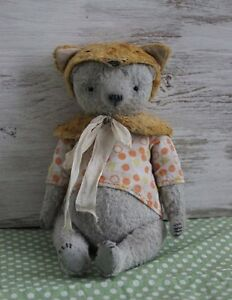 Sewing Pattern Vintage Bear With Fox hat 7 Inch
