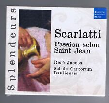 SCARLATTI CD (NEUF) PASSION SELON SAINT JEAN - RENE JACOBS