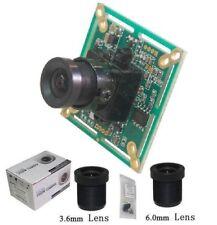 "Sunvision 650TVL 1/3"" Sony CCTV Board Camera + 3.6 & 6.0 mm M12 Lenses (BS65B)"