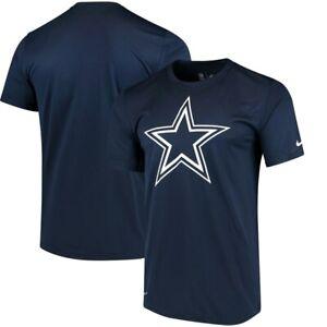 New Nike Dallas Cowboys Football Essential Logo Cotton t-shirt men's Large Navy