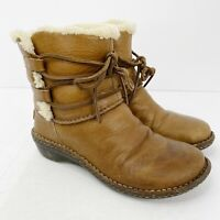 UGG Australia Uggs Womens US 7 Caspia Brown Leather Winter Ankle Boots #1932