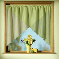 Scheibengardine Kuvertstore in grün o. terra-orange Fensterbild Gardine Typ308