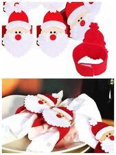 6pcs Christmas Santa Napkin Rings Serviette Holder Dinner Table Party Decor UK