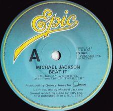 Michael Jackson ORIG OZ 45 Beat it EX '82 Epic ES849 R&B Post Disco