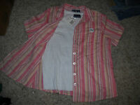 Lovely NWT Twinset White Tank Top & Pink Striped Blouse Size 1X Lightweight