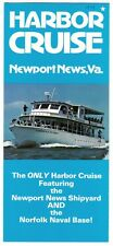 [27115] 1979 NEWPORT NEWS, VIRGINIA HARBOR CRUISE BROCHURE