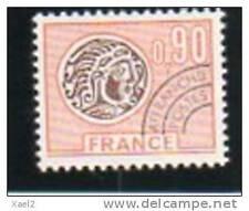 Monnaie gauloise 0F90 - orange et brun - YT n° 142