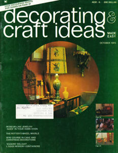 Craft Books: #1463 Decorating & Craft Ideas Magazine Vintage October 1973