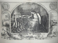 "1863 Harper's Weekly October 24 Nast ""Honor the Brave"" during the Civil War"