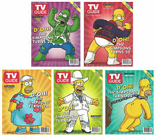 TV Guide 2009 Simpsons 20th Anniversary Homer 5 Collector Cover Set