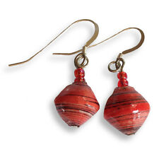 Paper Bead Earrings - Various Colours - Handmade in Uganda - Fair Trade