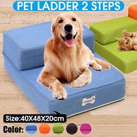46*40cm 2 Step Pet Dog Stairs Dog Cat Sofa Bed Chair Climb Folding Ramp Ladder
