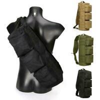 Men Tactical Military Messenger Shoulder Bag Sling Bags Waterproof Chest Ou P7D7