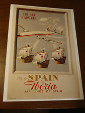 POSTER AFFICHE 50 X 70 cm IBERIA AIR LINES