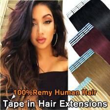 """Cinta 20-60PCS en el 100% extensiones de cabello humano remy natural ruso 10-24"""" Ombre nos"""