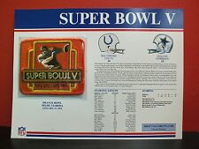 Willabee Ward Official NFL SUPER BOWL V Patch and Card COLTS COWBOYS