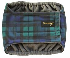 Glenndarcy Male Dog Belly Band Nappy I Waterproof Fabric I Black Watch