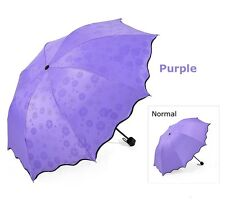 Women Umbrella Ladies Colour Changing Compact Folding Windproof Anti-uv Sun Rain