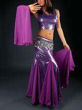 Costume 3 pièces de danse orientale violet argent taille unique 36 au 42
