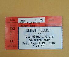 Detroit Tigers vs Cleveland Indians Comerica Park Game Ticket Stub