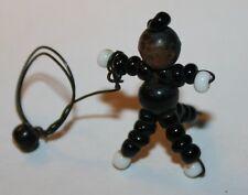 Tiny vintage miniature perles/fil poupée maison de poupées dolly fait à la main antique