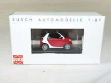 Busch 50778 Smart Fortwo convertible 15 CMD – rojo