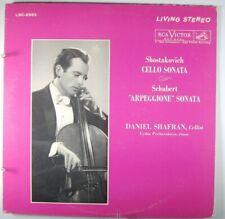 SHAFRAN :SHOSTAKOVICH/SCHUBERT Sonatas RCA Living Stereo LSC 2553 1s/5s ED1 NM