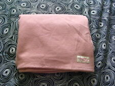 Vtg Matched Set of 2 Twin Wool Peach Pink Blankets England Cutter Crafts Fabric