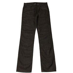 Zara Man Mens Straight Leg Wax Coated Jeans 31 X 34 Zip Fly Pockets Brown