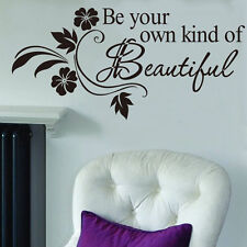 Be Your Own Kind of Removable Vinyl Wall Sticker Decor Art Quote Decal