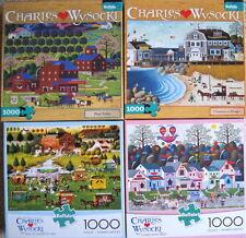 LOT of 4~CHARLES WYSOCKI~Buffalo Games 1000 Piece Jigsaw Puzzles