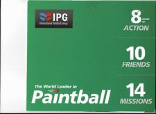 IPG 10 x £30 Paintball Tickets with 1000 free paintballs valid until 10/03/2023