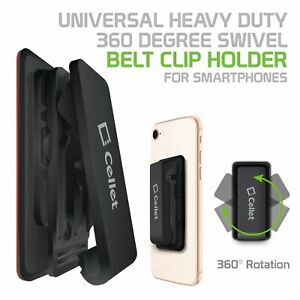 Belt Clip Holster 3M adhesive Heavy Duty Holder for Smartphones Samsung iPhone.