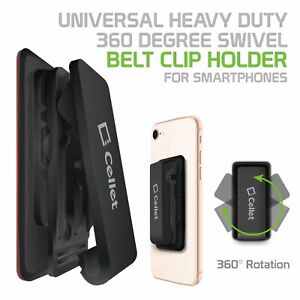 Belt Clip Holster 3M adhesive Heavy Duty Holder for Smartphones Samsung iPhone