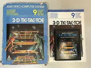 3-D TIC TAC TOE ATARI GAME IN BOX WITH BOOKLET - 3D TIC-TAC-TOE ATARI