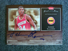 2005-06 Hakeem Olajuwon SP 62 Fleer Greats of Game Autographs Auto GOTG Rockets