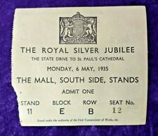 1935 ticket to view King George V & Queen Mary's silver Jubilee celebration