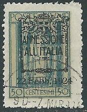 1924 FIUME USATO ANNESSIONE ALL'ITALIA 50 CENT - F10-6