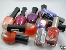 T7:Lot 10x Sally Hansen Wet n Wild Dahlia Nail Polish for Resell or Give-Aways