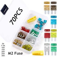 70Pcs Micro2 Fuse Blade Micro2 Fuse Kit 5A 7.5A 10A 15A 20A 25A 30A + 1pc puller