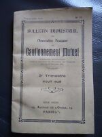 Libro Notiziario Trimestrale Ass.fr. Bonding Croce Agosto 1929 Parigi N° 77