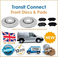 For Transit Connect 02-09 Two Front Vented 278MM Brake Discs & Brake Pads Set
